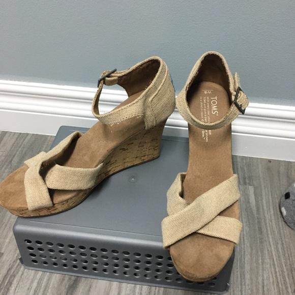 - Toms Womens Wedge High Heel Sandals